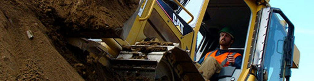 Here is a student at our heavy equipment operator school located in New England.