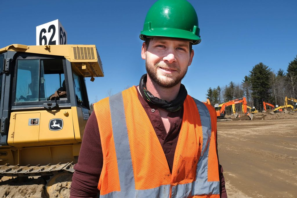 Heavy equipment operator training is our specialty. This student, pictured in front of a bulldozer, will complete his heavy machine operator training in 6 weeks and is on his way to an excellent career.