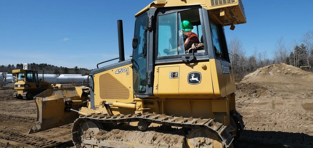 Here is an image of a heavy equipment training student using a piece of construction equipment. Our heavy equipment operator school has all the equipment someone will need in order to gain their certification.